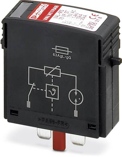Phoenix Contact VAL-MS 350 VF ST 2856595 Insteekbare overspanningsafleider Set van 10 Overspanningsbeveiliging voor: Verdeelkast 10 kA