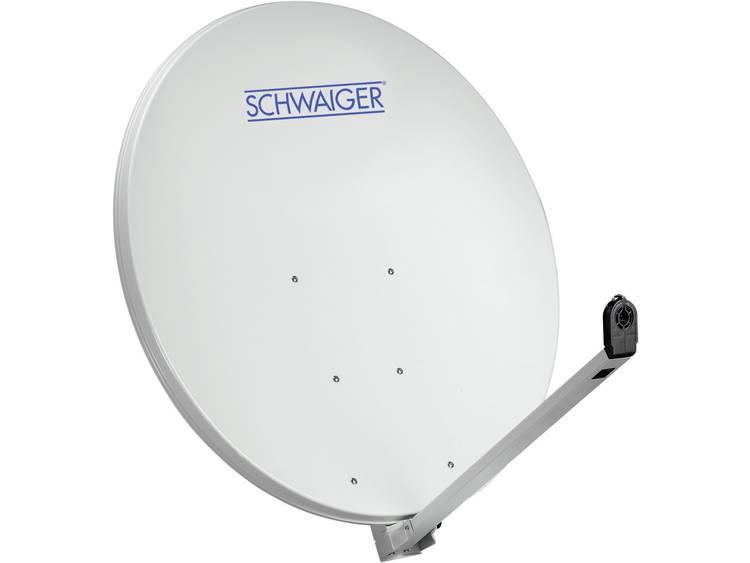 Schwaiger-satellietschotel aluminium 100 cm lichtgrijs topkwaliteit 10 jaar garantie