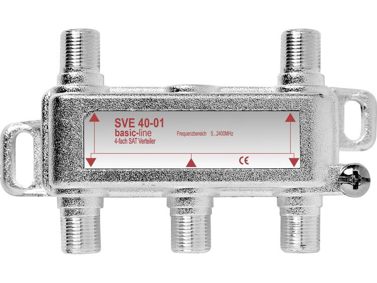 SVE 40-50 SAT-verdeler 4-voudig 5 - 2400 MHz