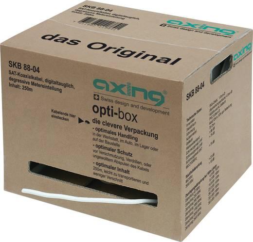 Axing SKB 89-04 Coaxkabel Buitendiameter: 6.80 mm 75 Ω 90 dB Wit 250 m