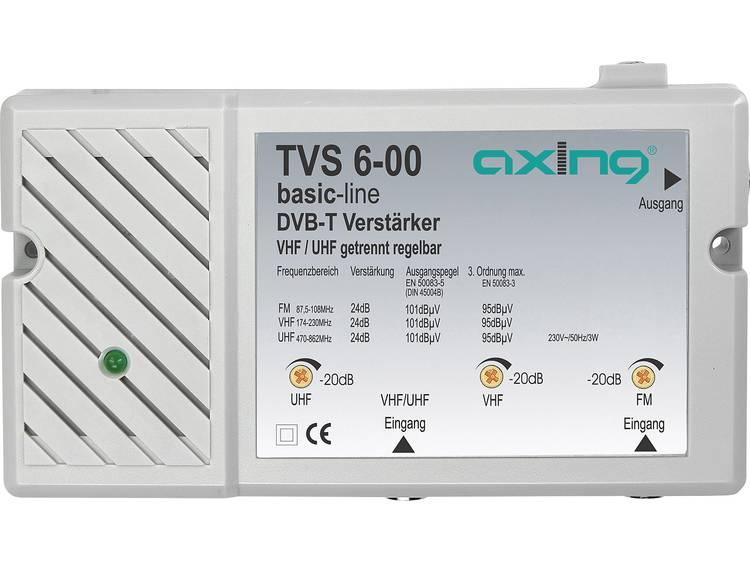 DVB-T-versterker TVS 6-00 Versterking 24 dB Dempingsregelaar 20 dB Ingang voor FM Combinatie-ingang
