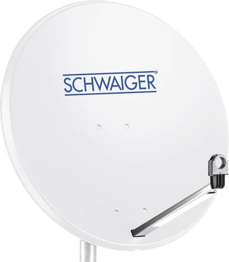 Schwaiger satellietinstallatie voor 1 satelliet - satellietschotel 80 cm, lichtgrijs, LNB - 2 aansluitingen