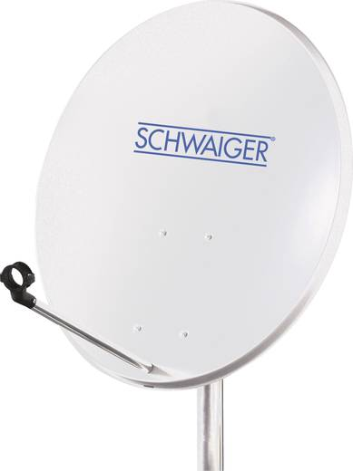 Schwaiger satellietinstallatie voor 1 satelliet - satellietschotel 60 cm, lichtgrijs, LNB - 1 aansluiting