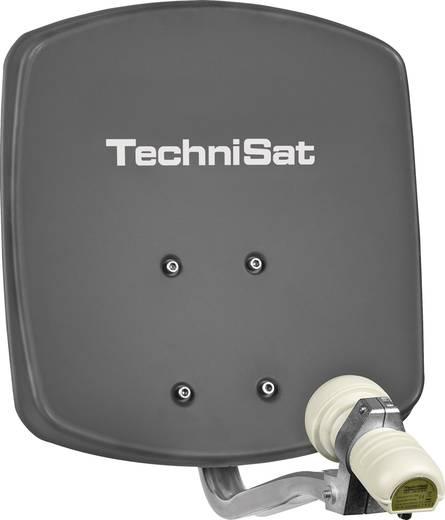 TechniSat satellietinstallatie - platte antenne DigiDish 33 in antraciet met single-LNB - satellietantenne