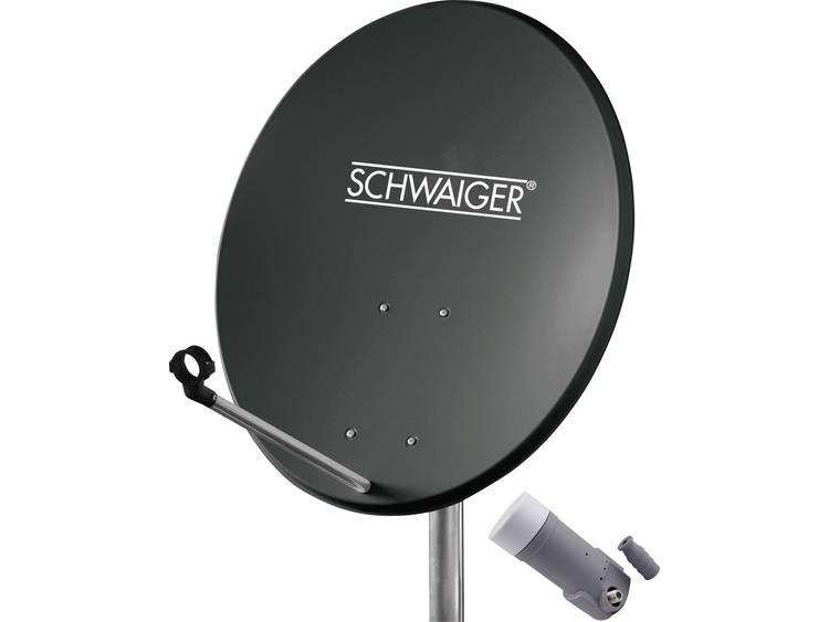 Schwaiger satellietinstallatie voor 1 satelliet -satellietschotel 60 cm, antraciet, LNB 1 aansluitin