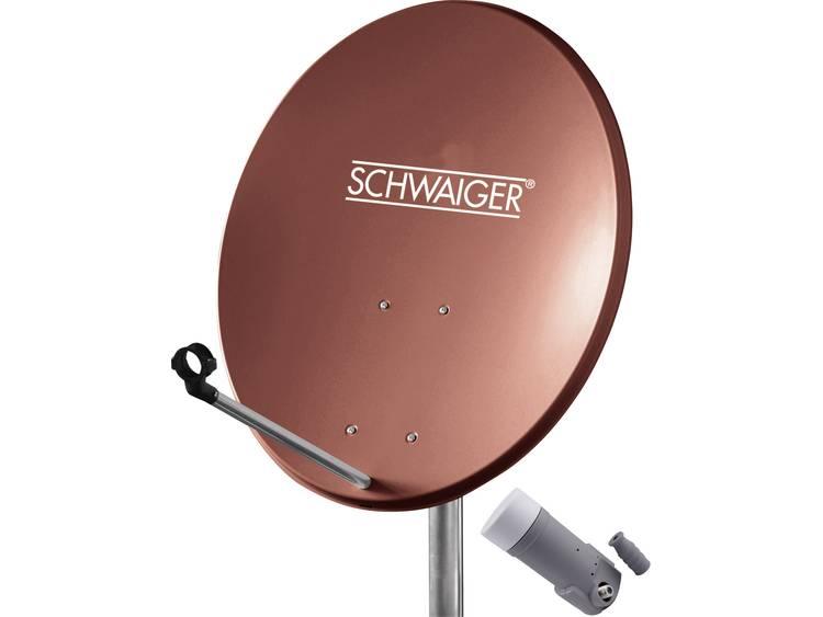 SCHWAIGER SAT-SYSTEEM VOOR 1 SATELLIET SAT-SCHOTEL 60 CM, BAKSTEENROOD, LNB 1 AANSLUITING