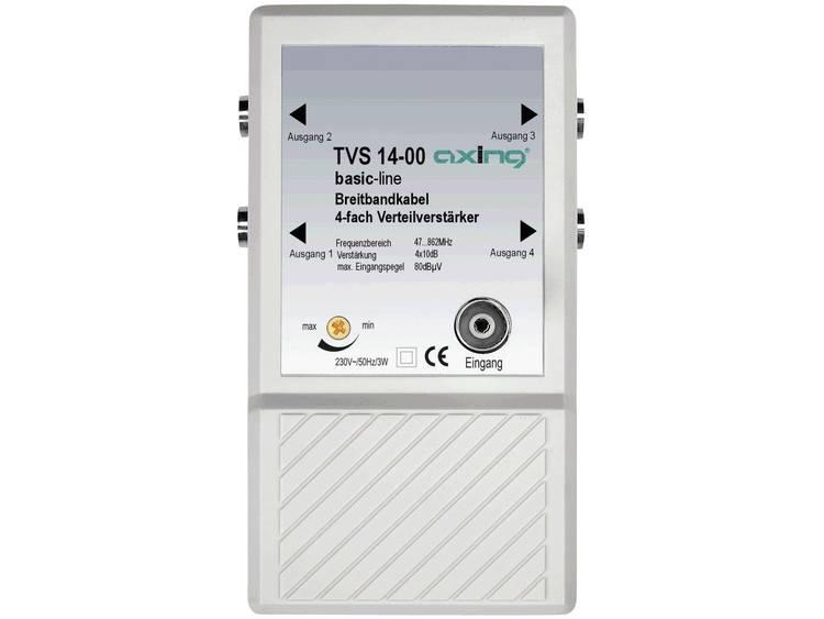 TVS 14 4-voudige verdeelversterker Frequentiebereik: 47 862 MHz Versterking: 4 x 10 dB
