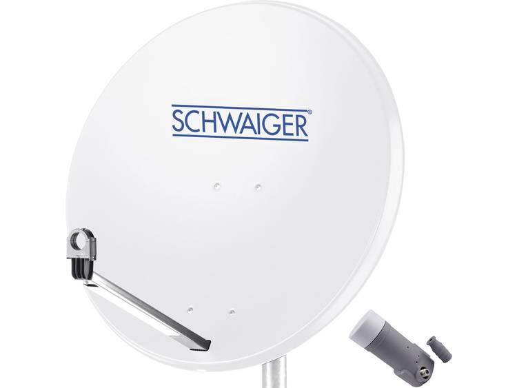 Schwaiger satellietinstallatie voor 1 satelliet satellietschotel 80 cm, lichtgrijs, LNB 1 aansluitin