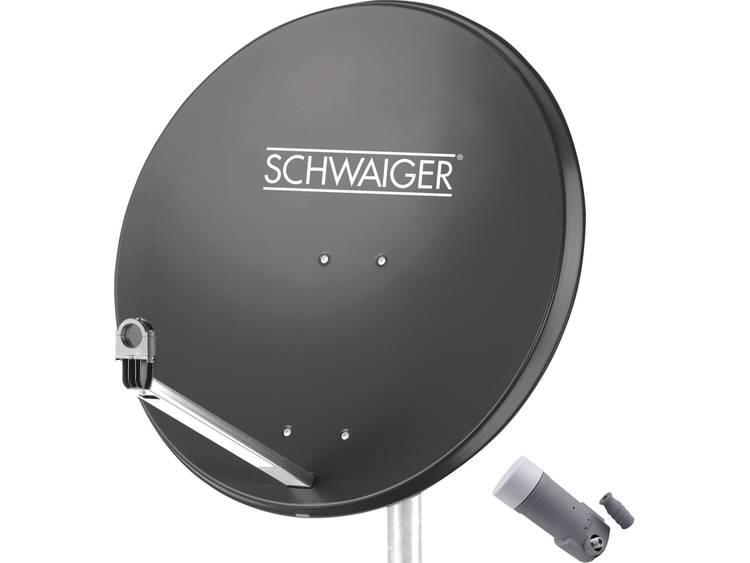 Schwaiger satellietinstallatie voor 1 satelliet -satellietschotel 80 cm, antraciet, LNB 1 aansluitin