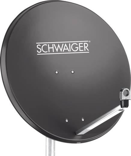 Schwaiger satellietinstallatie voor 1 satelliet -satellietschotel 80 cm, antraciet, LNB - 1 aansluiting