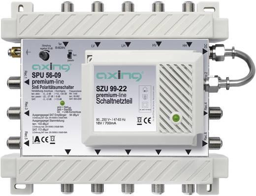 Axing SPU 56-09 Satelliet multiswitch Ingangen (satelliet): 5 (4 satelliet / 1 terrestrisch) Aantal gebruikers: 6 Standby-functie, geschikt voor Quad LNB