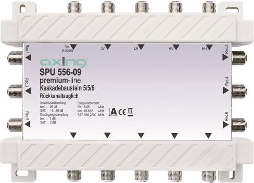 Axing SPU 556-09 Satelliet multiswitch cascade Ingangen (satelliet): 5 (4 satelliet / 1 terrestrisch) Aantal gebruikers: