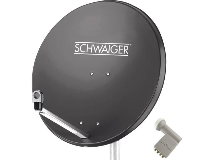 Satellietset zonder receiver 4 Schwaiger SPI9961SET9 80 cm