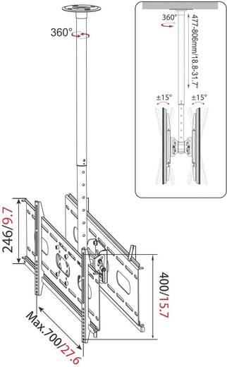 "TV-plafondbeugel My Wall HP 3 L 94,0 cm (37"") - 160,0 cm (63"") Kantelbaar"