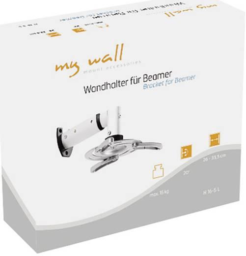 My Wall Beamer-wandbeugel H 16-5 Zilver (mat)