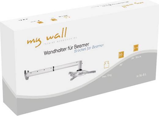 My Wall Beamer-wandbeugel H 16-6 Zilver (mat)