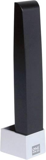 One For All SV 9345 Actieve DVB-T/T2 staafantenne Binnen Versterking=43 dB Zwart, Zilver (geborsteld)