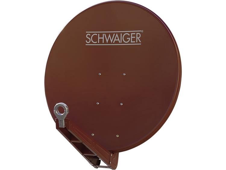 Schwaiger SPI085PR Satellietschotel 85 cm Reflectormateriaal: Aluminium Steenrood