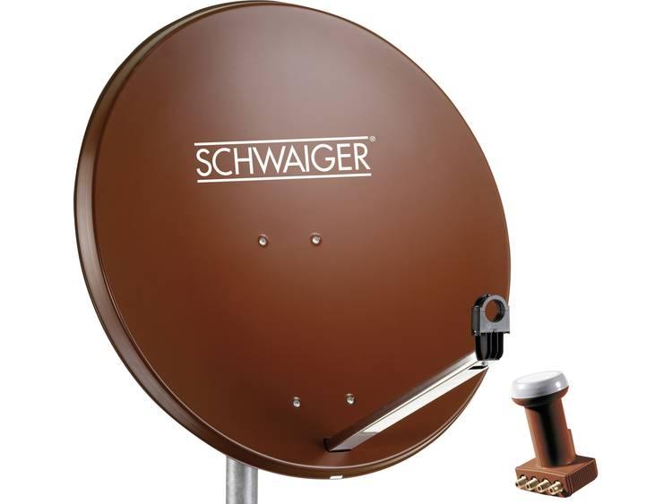 Satellietset zonder receiver 4 Schwaiger SPI991.2SET 80 cm
