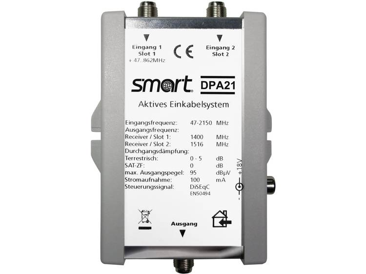 Smart DPA 21 Satelliet multiswitch unicable Ingangen (satelliet): 2 (2 satelliet / 0 terrestrisch) Aantal gebruikers: 2