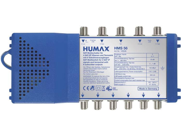 Humax HMS 56 Satelliet multiswitch Ingangen (satelliet): 5 (4 satelliet-1 terrestrisch) Aantal gebru