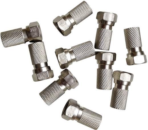 F-stekker 25 stuks met afdichtingsring Kabeldiameter: 7.20 mm
