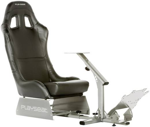 Playseats Evolution M Black Silver Racestoel Zwart-zilver