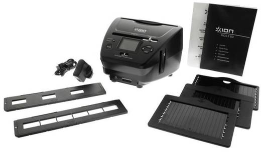 ION Audio Pics2SD Diascanner, Negatiefscanner, Fotoscanner 1800 dpi Display, Geheugenkaartlezer