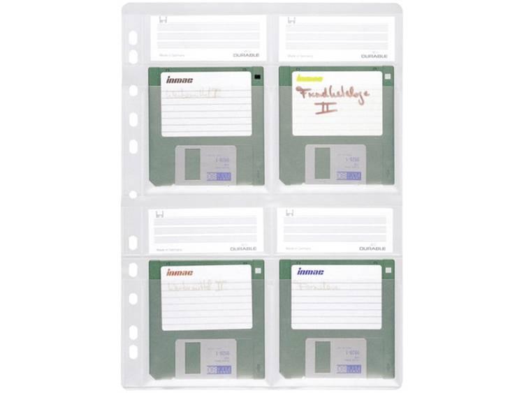 Durable Opberghoezen voor diskettes Transparant 4 diskettes