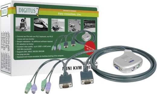 Digitus DC-OC 12 2 poorten KVM-schakelaar VGA PS/2 1920 x 1440 pix