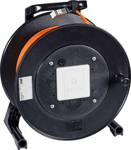 RJ45 Netwerk Kabelhaspel CAT 6 S/FTP 50 m Oranje Vlambestendig EFB Elektronik