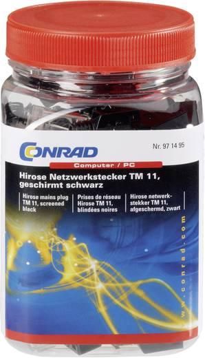 Hirose netwerkstekker TM 11, afgeschermd zwart Stekker, recht Aantal polen: 8P8C TM 11 Zwart Hirose Electronic 602822 40 stuks