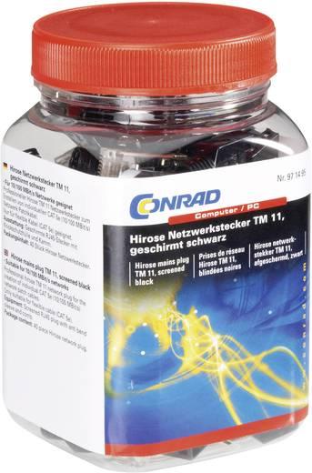 Hirose netwerkstekker TM 11, afgeschermd zwart Stekker, recht Aantal polen: 8P8C TM 11 Zwart Hirose Electronic 602822 4