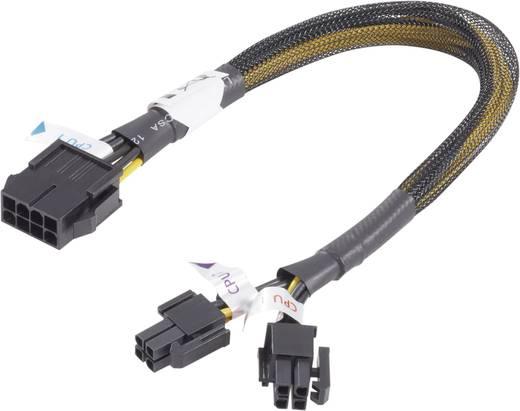 Akasa Stroom Verlengkabel [1x PCI-E stekker 8-polig - 2x PCI-E stekker 4-polig] 0.30 m Geel-zwart