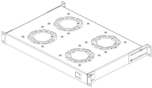 19 inch 4 x Patchkast-ventilator
