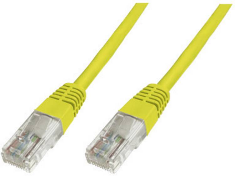 Netwerkkabel RJ45 CAT 6 S/FTP 0.25 m Geel Digitus Professional