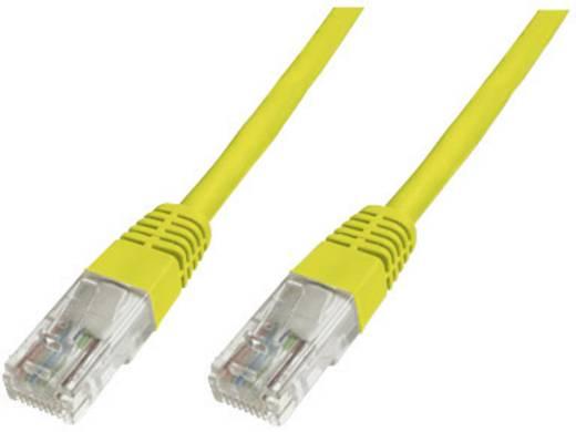 Digitus Professional RJ45 Netwerk Aansluitkabel CAT 6 S/FTP 0.25 m Geel Vlambestendig, Snagless