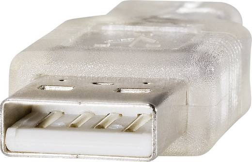 Renkforce Verlengkabel [1x USB 2.0 stekker A - 1x USB 2.0 bus A] 3 m Transparant