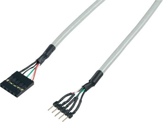 Renkforce USB 2.0 Verlengkabel [1x USB 2.0 stekker intern 5-polig - 1x USB 2.0 bus intern 5-polig] 0.30 m Grijs Vergulde