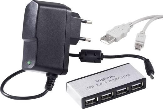 LogiLink 4 poorten USB 2.0 hub Zilver