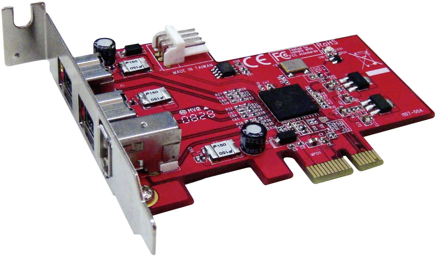 3 poorten FireWire 800-controllerkaart PCIe Renkforce | Conrad.nl