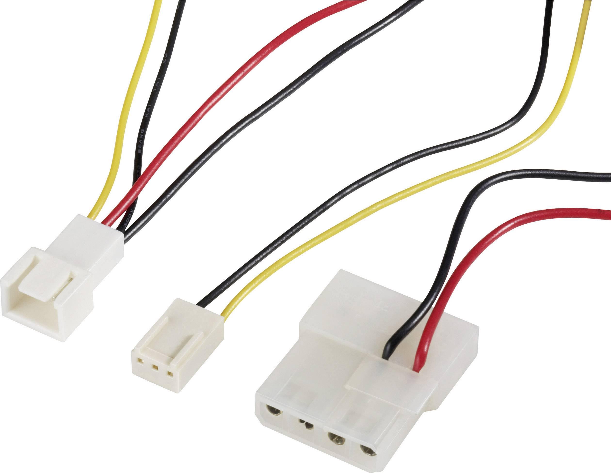 Aansluitkabel PC-ventilator [1x PC-ventilator stekker 3-polig - 1x ...