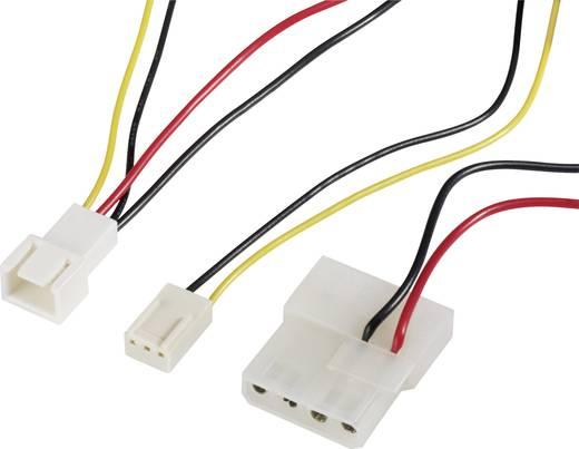 Kabel PC-ventilator [1x PC-ventilator stekker 3-polig - 1x IDE-stroombus 4-polig, PC-ventilator bus 3-polig] 0.30 m Zwar