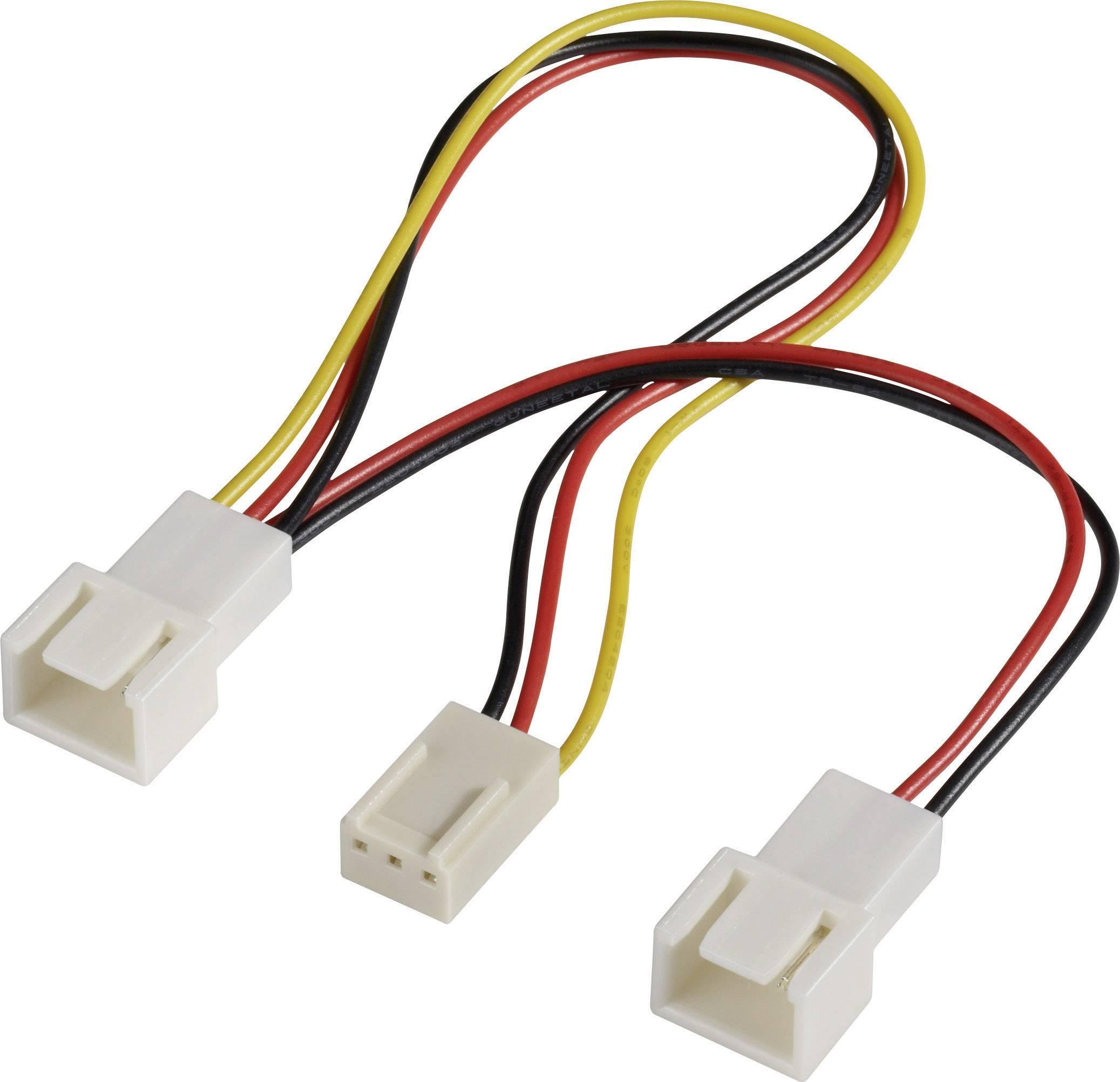 Y-kabel PC-ventilator [2x PC-ventilator stekker 3-polig - 1x PC ...