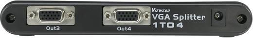 4 poorten VGA-splitter met ingebouwde repeater Zilver