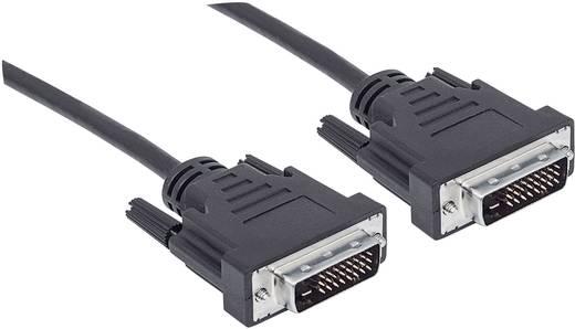 Manhattan DVI Aansluitkabel [1x DVI-stekker 24+1-polig - 1x DVI-stekker 24+1-polig] 1.80 m Zwart