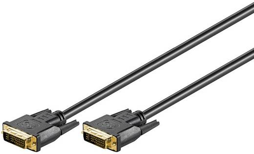 DVI Aansluitkabel Goobay [1x DVI-stekker 24+5-polig - 1x DVI-stekker 24+5-polig] 5 m Zwart