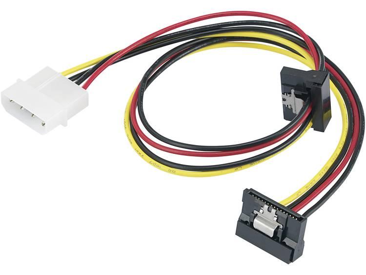 Stroom Adapter [1x IDE-stroomstekker 4-polig 2x SATA-stroombus] 0.46 m Zwart, Rood, Geel