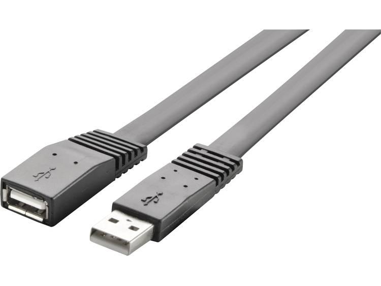 USB 2.0 Verlengkabel Renkforce [1x USB-A 2.0 stekker - 1x USB 2.0 bus A] 3 m Zwart