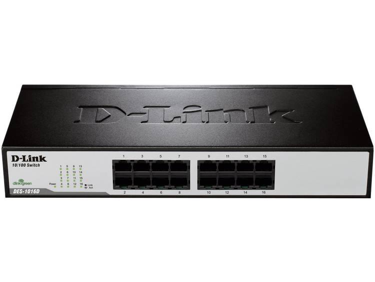 D-Link DES-1016D Netwerk switch RJ45 16 poorten 100 Mbit/s